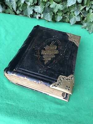 Antiques Antiquarian & Collectible Antique 1825 German Family Bible Heavily Illustrated Previous Restoration