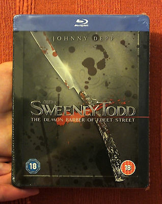 Sweeney Tood New Zavvi Region Free Oop Blu-Ray Steelbook