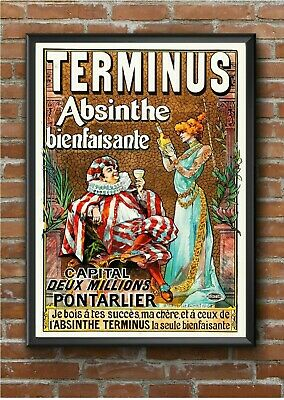 """Vintage """"Terminus Absinthe"""" Art Deco Advertising Poster Print Picture A3 A4 A5"""