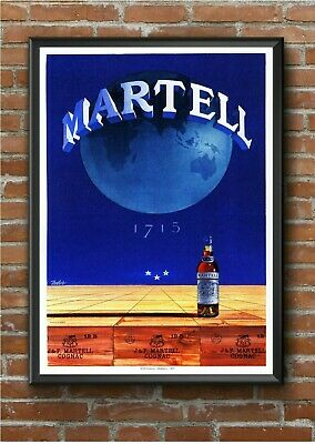 Vintage Martell Art Deco Advertising Poster Print Picture A3 A4 A5