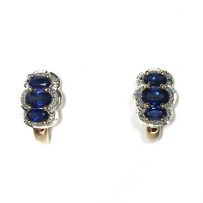 1.18CTW 5 MM ROUND GENUINE NATURAL BLUE TOPAZ STUD EARRINGS 14KT YELLOW GOLD