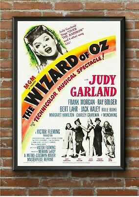 """Vintage """"Wizard of Oz"""" Classic Movie Film Poster Print Picture A3 A4 A5"""