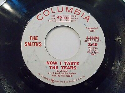 The Smiths Now I Taste The Tears / I Can't Stop 45 1968 Promo Vinyl Record