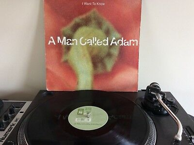 """A Man Called Adam I Want To Know UK 12"""" vinyl single record - House"""