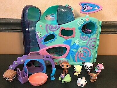 Littlest Pet Shop Playful Paws Daycare Purple Playground Slide Replacement Parts