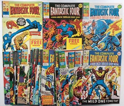 Complete Fantastic Four MASSIVE JOBLOT #1 to #37 Marvel UK 1977. 37 x issues