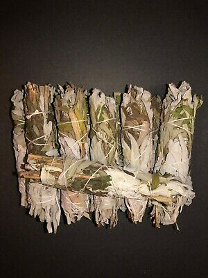 white sage + black sage mixed rolls smudge incense 4'' bundle ( 12 pcs )