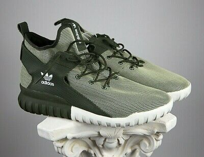 huge selection of e5386 c4a8d NWT Adidas Originals Mens US Size 13 Tubular X Glow In The Dark Army Green
