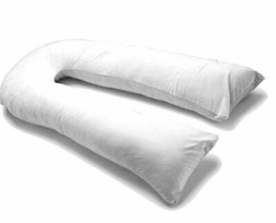9FT Duck Feather & Down Comfort U Pillow Full Body Maternity Pregnancy Support