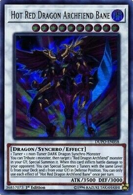 Hot Red Dragon Archfiend Bane (DUPO-EN058) - Ultra Rare - 1st Edition