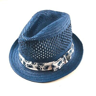 47f4adc8e7578 NICK GRAHAM MENS Jorge Vented Straw Fedora Hat S M -  20.00