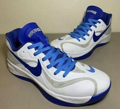 separation shoes 28397 f445d Nike Zoom Hyperfuse Low White Strata Grey Game Royal 555034-100 Men s Size