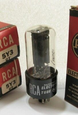 One RCA 5Y3GT Rectifier Tube - Hickok TV7 tests @ 64/58, min:40/40 (P#1/P#2)