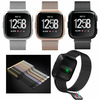 Magnetic Milanese Stainless Watch Wrist Band Strap For Fitbit Versa Lite Smart