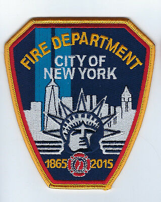 New York City NY Fire Department FDNY 150th Anniversary 1865-2015 Patch - NEW!