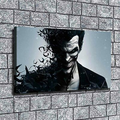 "12""x20"" DC Batman Joker Paintings HD Print on Canvas Home Decor Wall Art Picture"