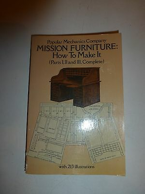 Dover Woodworking:Mission Furniture How to Make It by Popular Mechanics PressB70