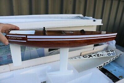America 60 Model Yacht (Almost Ready To Sail) New Never Assembled MINT Timber