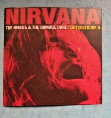 Nirvana -Outcesticide II The Needle & the Damage done -rare japan CD 1995 NMBO25