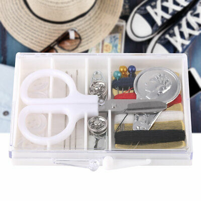 Sewing Kit Thread Threader Needle Leather Storage Box Set Craft Tools For Travel