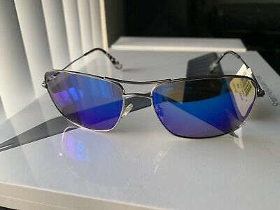 2c2a7f4b04d8 Maui Jim B246-17 wiki wiki silver frame blue hawaii polarized lens  sunglasses