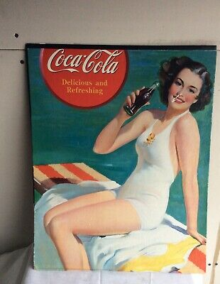 VINTAGE COCA-COLA POSTER print 1912 Two Flappers Flapper