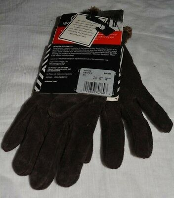 NWT ISOTONER WOMEN GLOVES microluxe LINING # BROWN LARGE @ $15.99 & FREE SH
