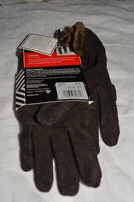 NWT ISOTONER WOMEN GLOVES microluxe LINING # BROWN X-LARGE @ $15.99 & FREE SH