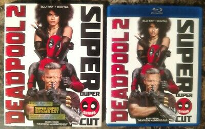 Deadpool 2 (Blu-ray, 2018, 2-Disc Set, Unrated Super Duper Cut w Slipcover)