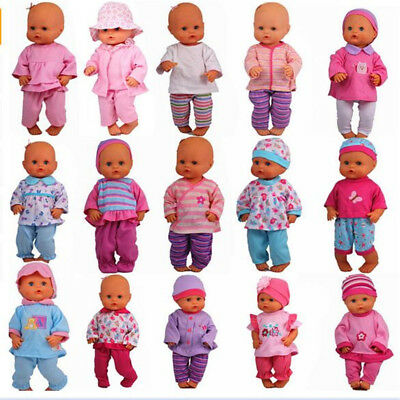 13inch Doll Clothes 35CM Nenuco Ropa Accessory Home Sleepwear Casual Clothes Set