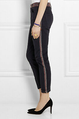 Isabel Marant Etoile Clancy High Rise Patchwork Denim