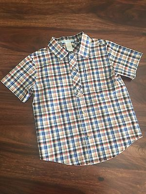 JANIE & JACK Toddler SIZE 3 Plaid Button up BOYS SHIRT