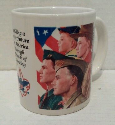Boy Scouts of America Coffee Cup with Norman Rockwell Painting