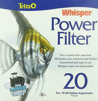 Tetra 25772 Whisper Power Filter 20, 20-Gallon Water Aquarium Quiet Whisper