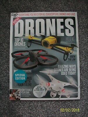 The Drones Book Everything You Need To Know Quadcopters Bookazine Magazine New