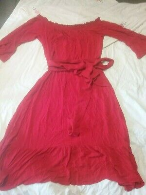 Red City Chic Maxi Spanish Style Dress Small