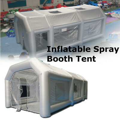 Portable Giant Oxford Cloth Inflatable Tent Workstation Spray Paint 110V Blower