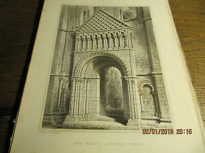 Planche Kelso Abbey - The North Doorway BILLINGS 19e