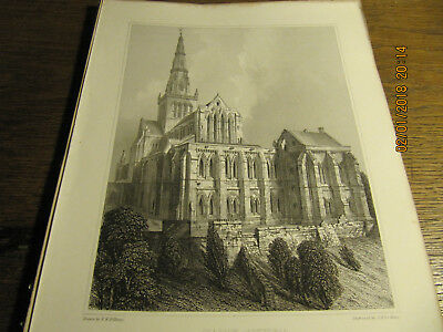 Planche Glasgow Cathedral - East View BILLINGS 19e