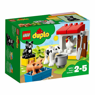 Lego Duplo 10870 Town Farm Animals 16 Pieces Age 2 And up New Release For 2018