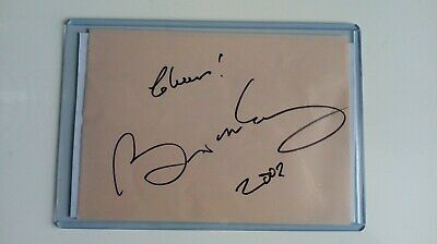 Brian May Queen Signed Autograph Page 2002