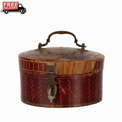 1850'S Indian Antique Hand Crafted Fine Hand Painted Money Collectible Box 1023