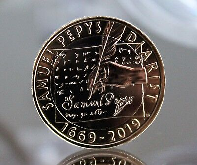 2019 Royal Mint 350th Anniversary of Samuel Pepys Diary £2 Two Pound Coin BUnc