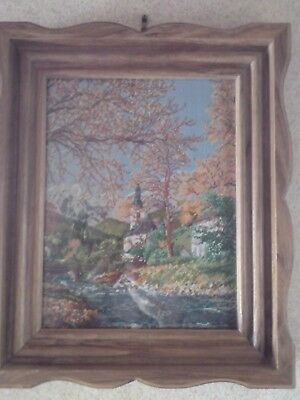 HANDMADE FINISHED CHAPEL PICTURE GOBLIN TAPESTRY WALL HANGING frame not included