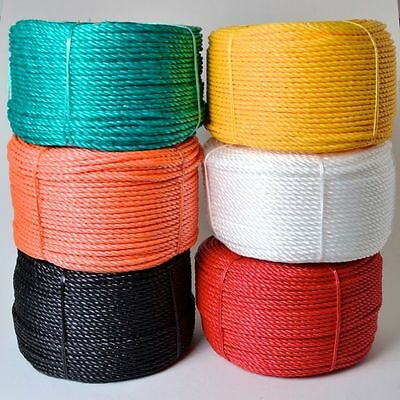 12mm Coloré Polypropylène Corde Poly - Rouge Vert Blanc Noir Orange Jaune