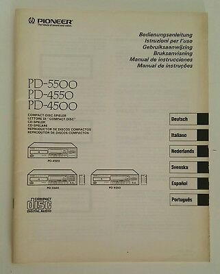 Manuale cd Pioneer PD-5500;PD-4550;PD-4500