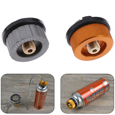 Camping Burner Cartridge Gas Fuel Canister Stove Cans Tank Adapter Converter ^S