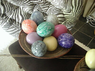 cm  TO CARVE~DECORATE-~DISPLAY or TAXIDERMY HUGE BLOWN EMU EGG 15