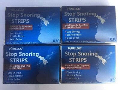 120 BREATHE Better Nasal Strips Nose Band Stop Snoring Sleep Better NEW Sealed