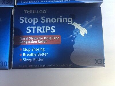 60 BREATHE Better Nasal Strips Nose Band Stop Snoring Sleep Better NEW Sealed